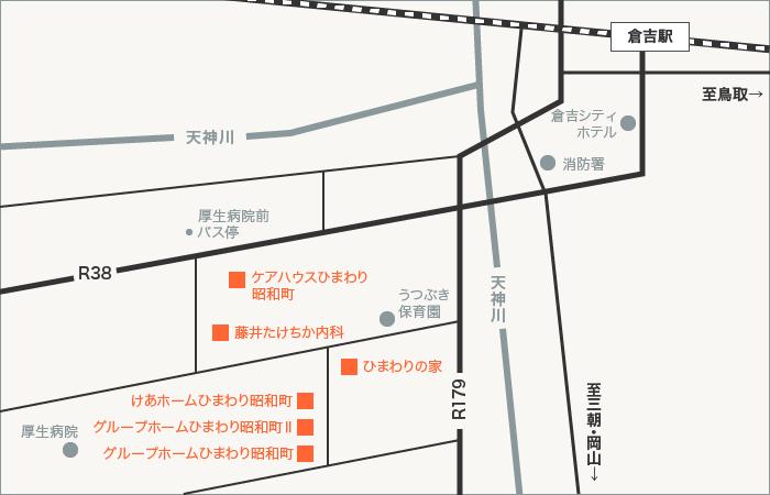 昭和町エリア地図